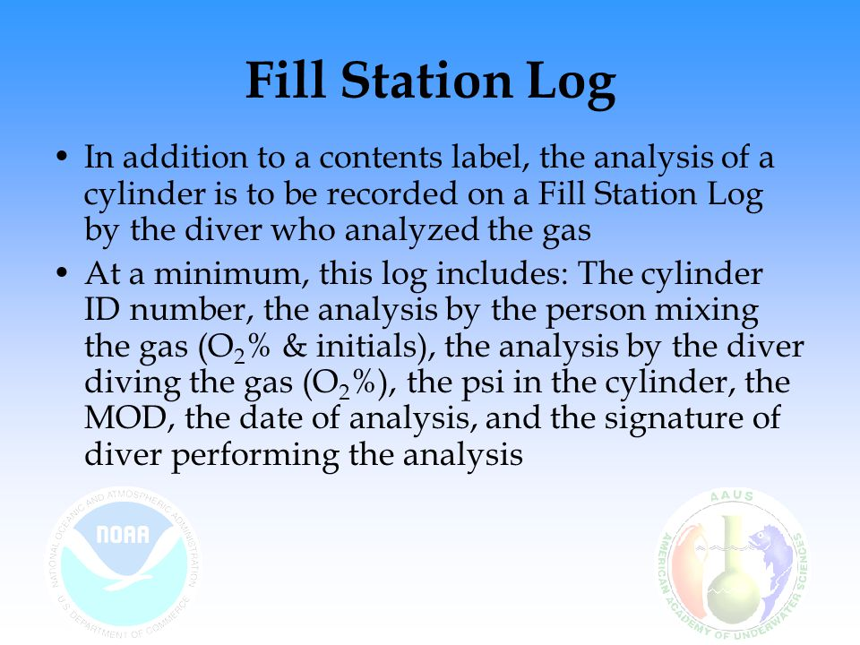 Fill Station Log