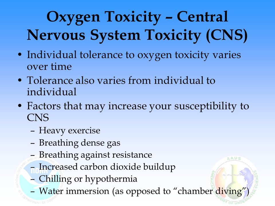 Oxygen Toxicity – Central Nervous System Toxicity (CNS)