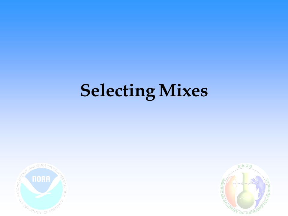 Selecting Mixes