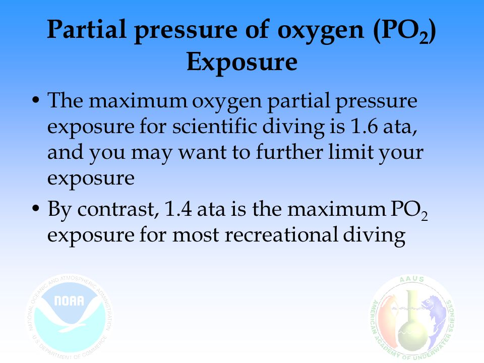 Partial pressure of oxygen (PO2) Exposure