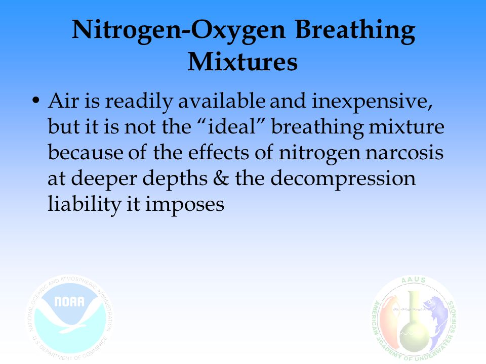 Nitrogen-Oxygen Breathing Mixtures