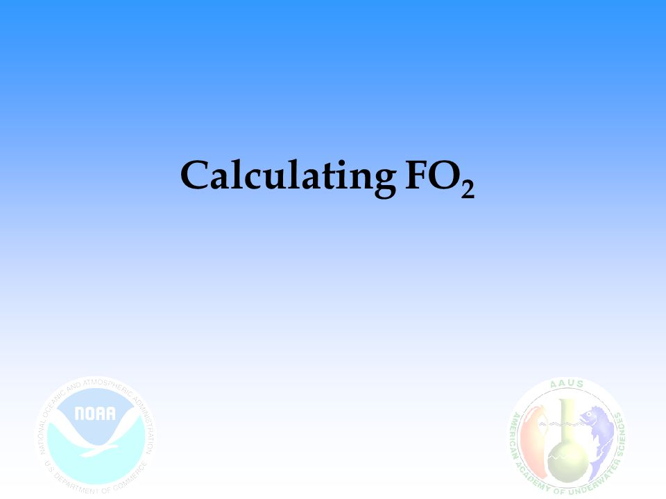 Calculating FO2