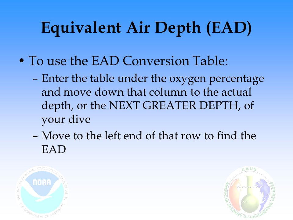 Equivalent Air Depth (EAD)