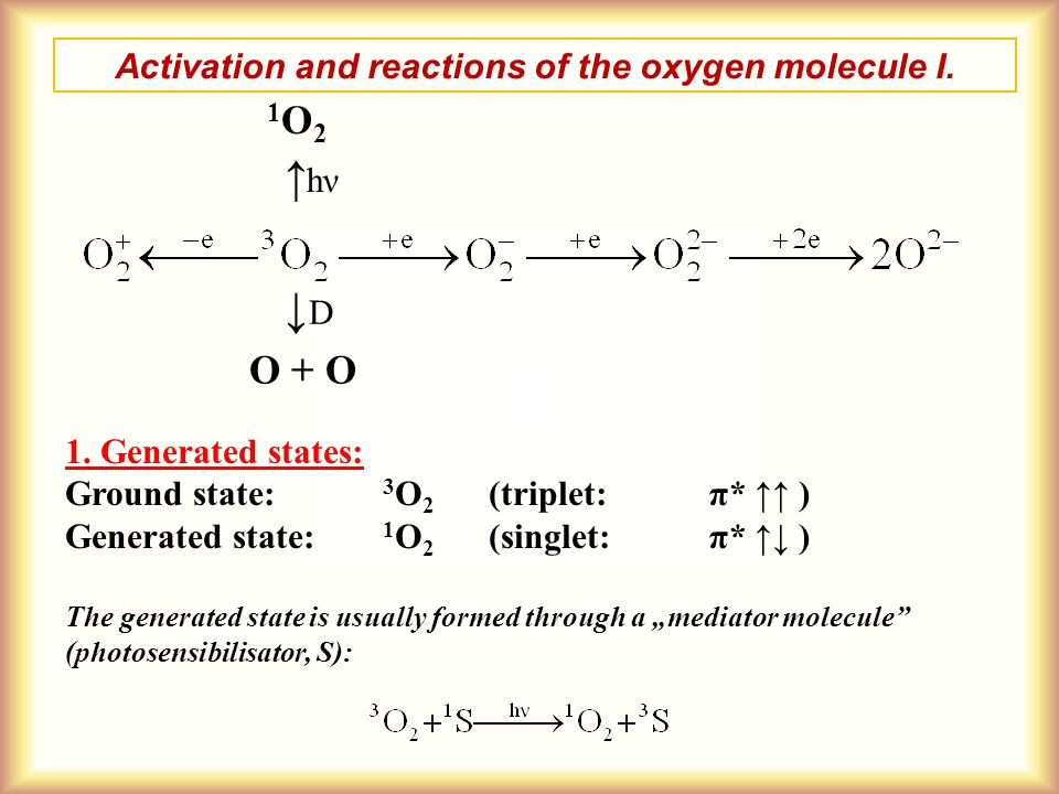 Activation and reactions of the oxygen molecule I.
