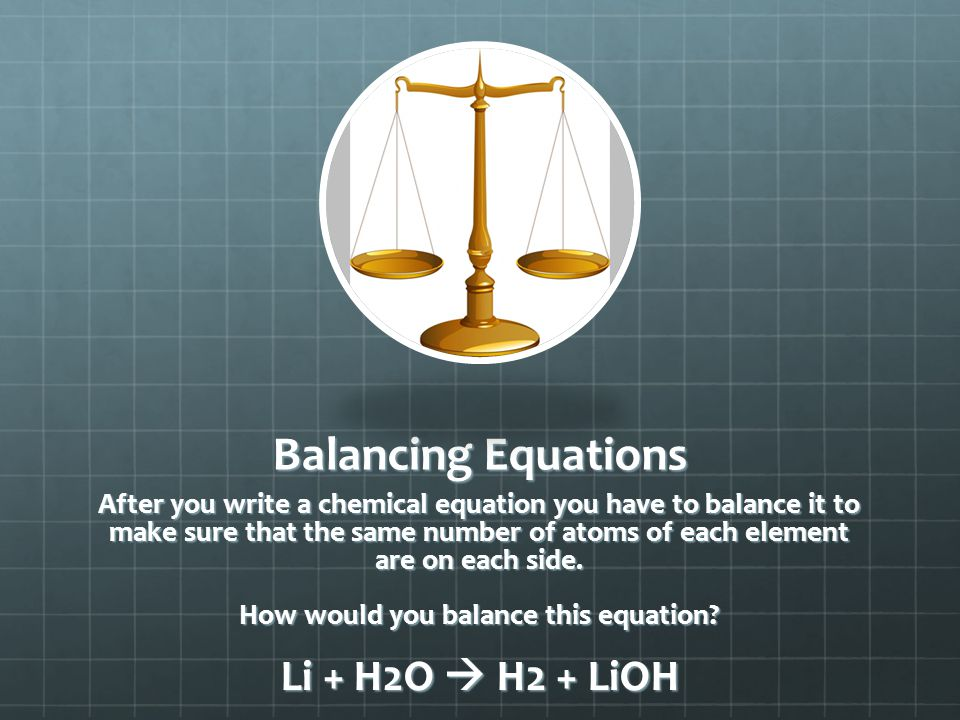 How would you balance this equation