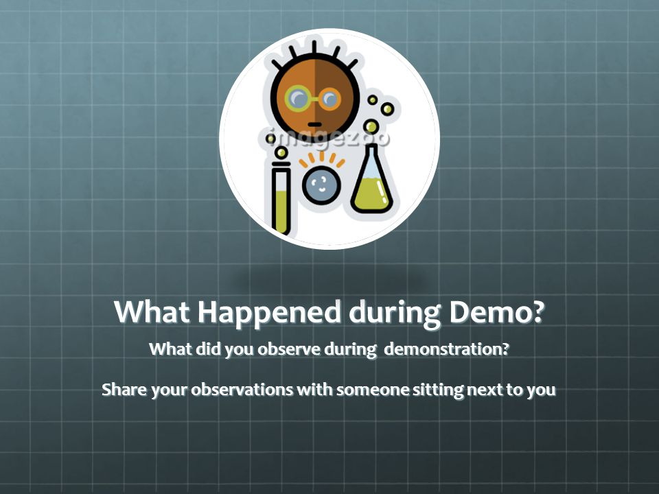What Happened during Demo