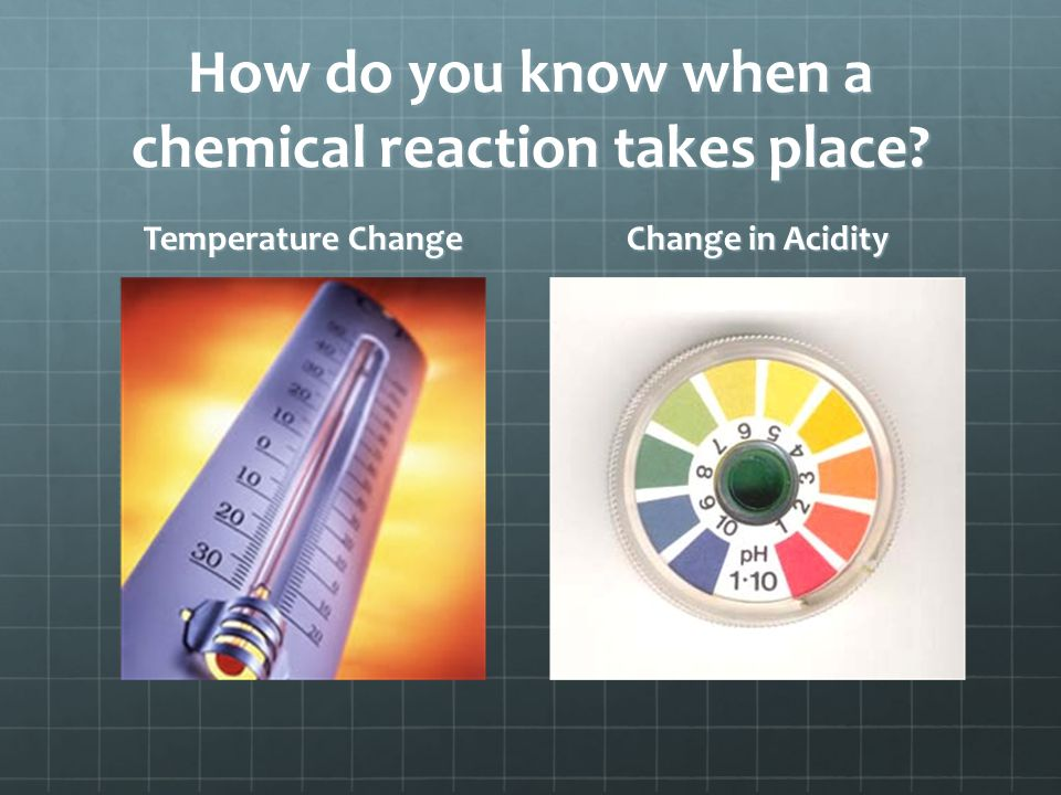 How do you know when a chemical reaction takes place