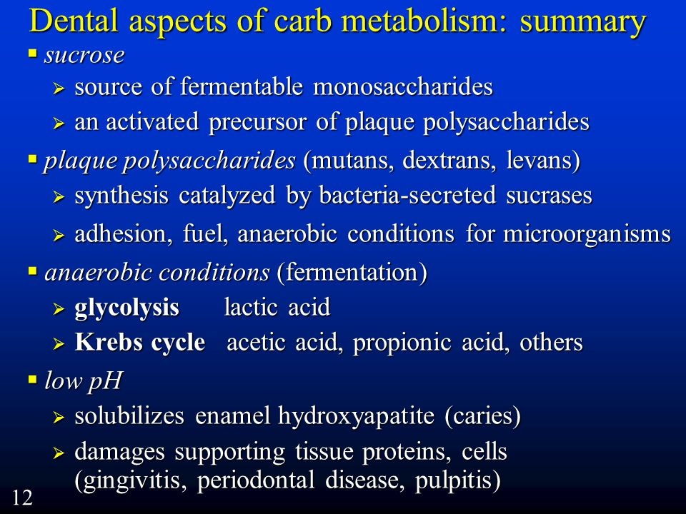 Dental aspects of carb metabolism: summary