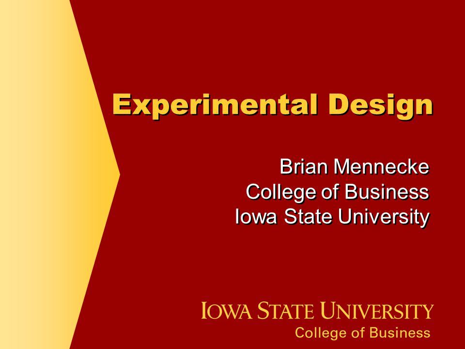 Brian Mennecke College of Business Iowa State University