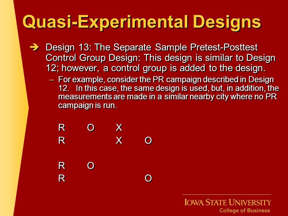 Quasi-Experimental Designs