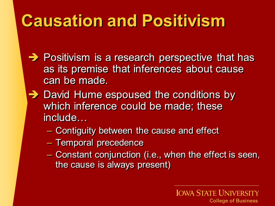 Causation and Positivism