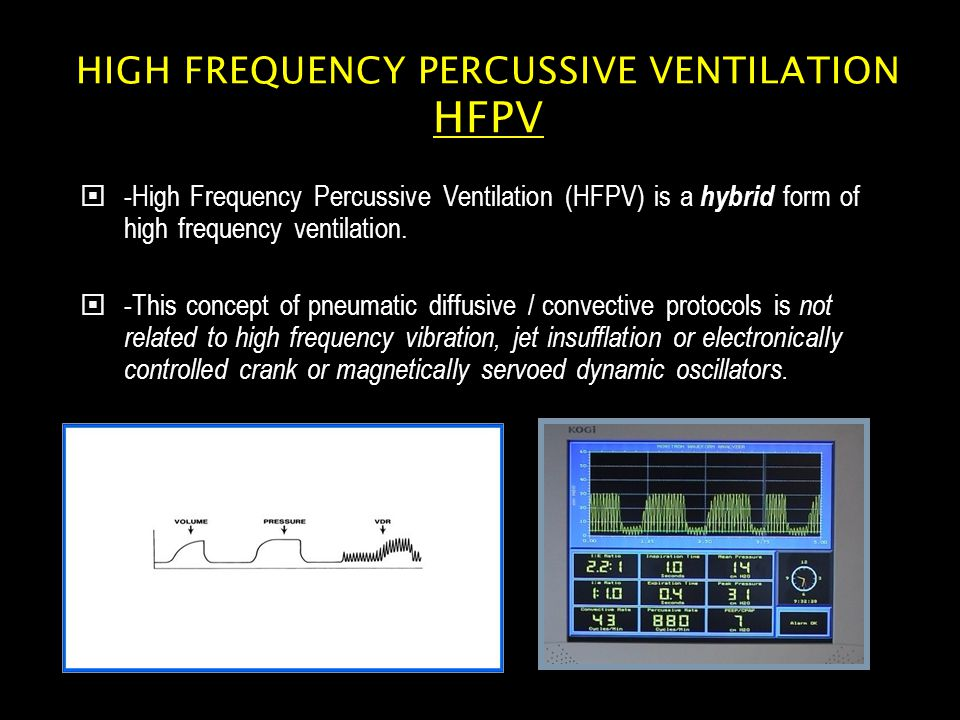 High Frequency Percussive Ventilation HFPV