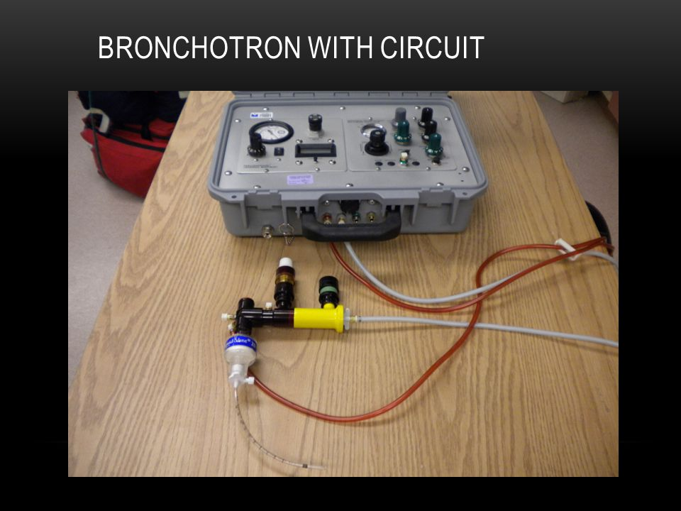 Bronchotron with circuit