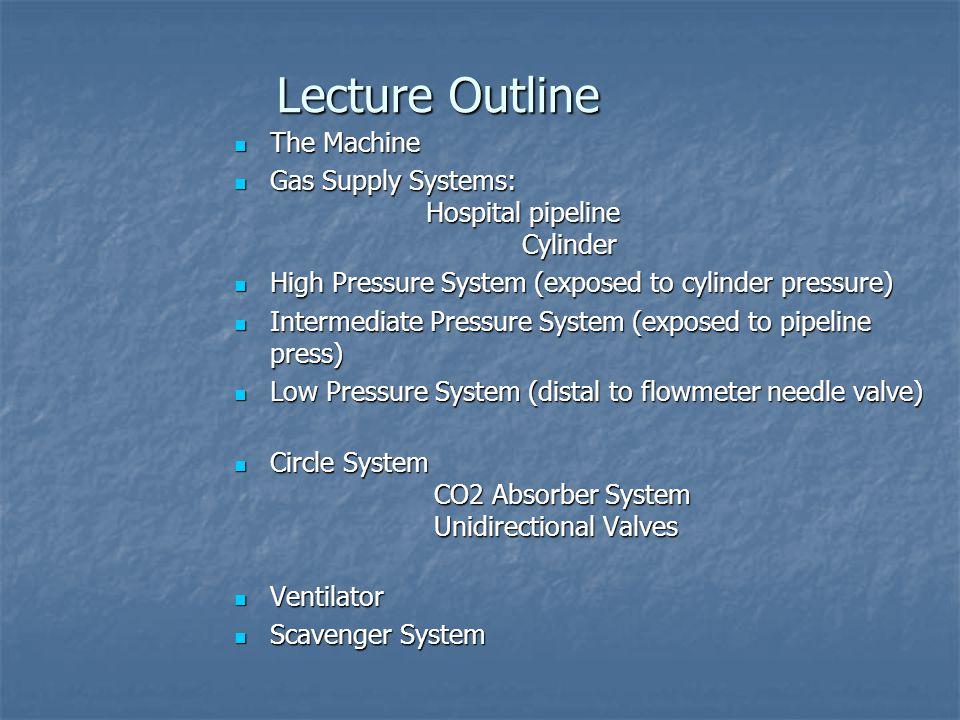 Lecture Outline The Machine