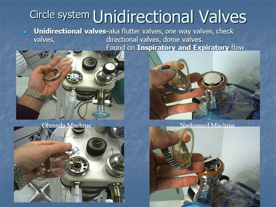 Circle system Unidirectional Valves