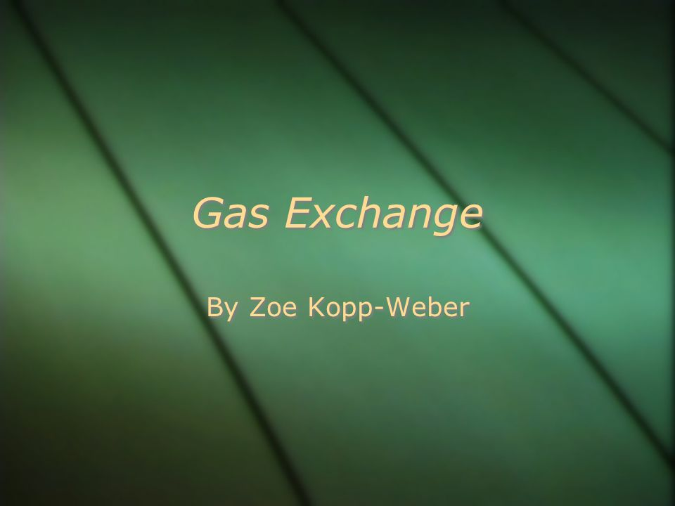 Gas Exchange By Zoe Kopp-Weber
