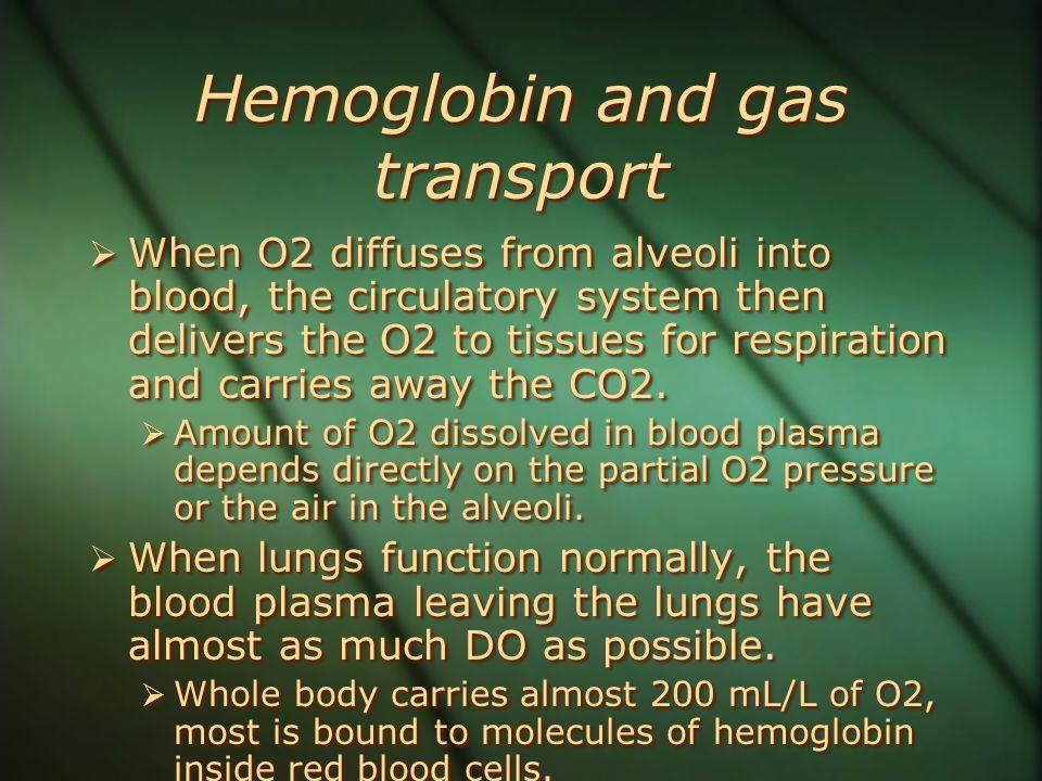 Hemoglobin and gas transport