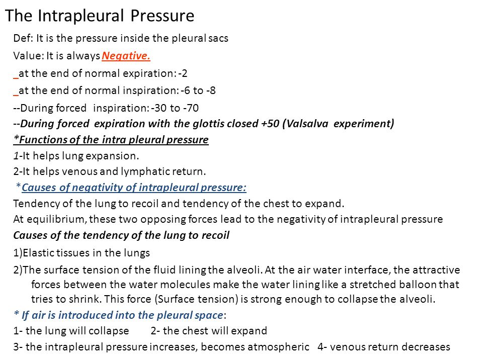 The Intrapleural Pressure