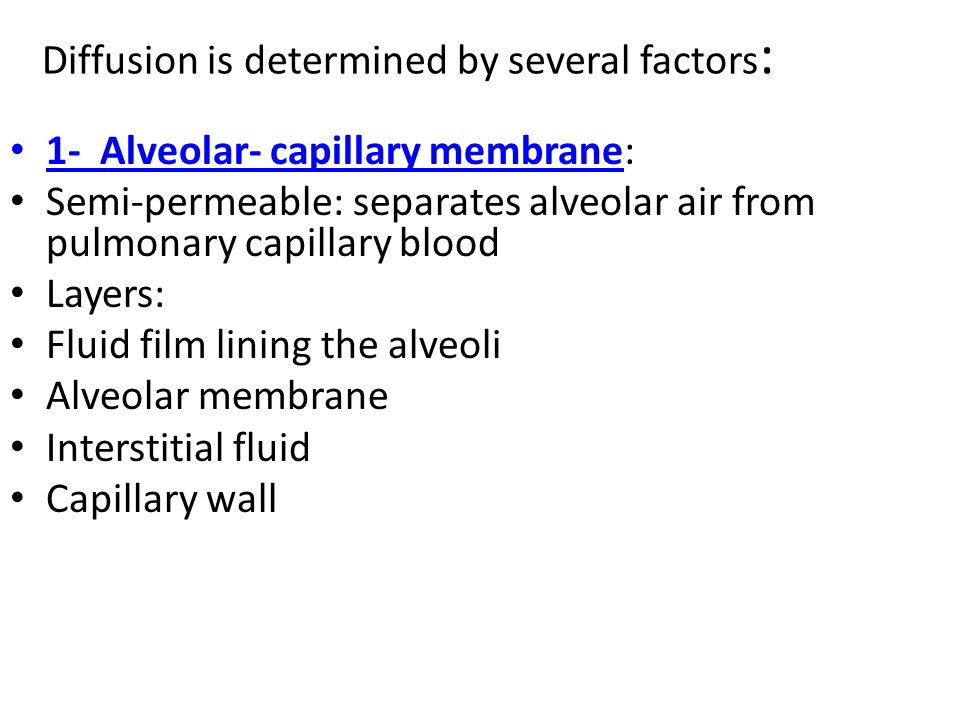 Diffusion is determined by several factors: