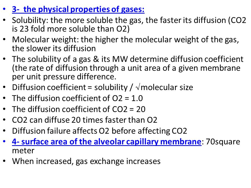 3- the physical properties of gases: