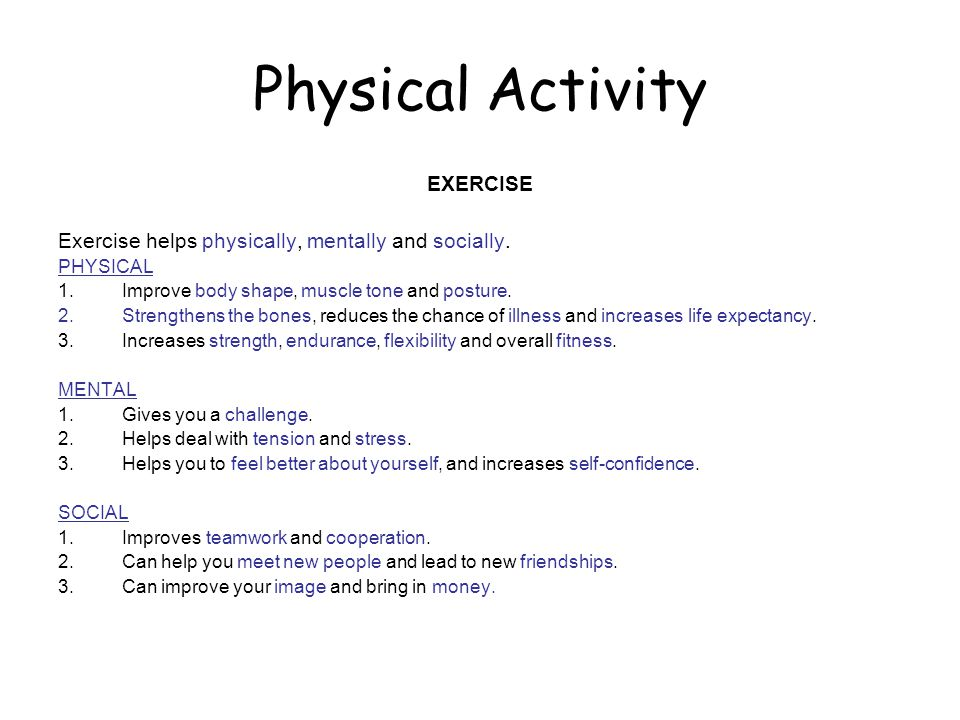 Physical Activity EXERCISE