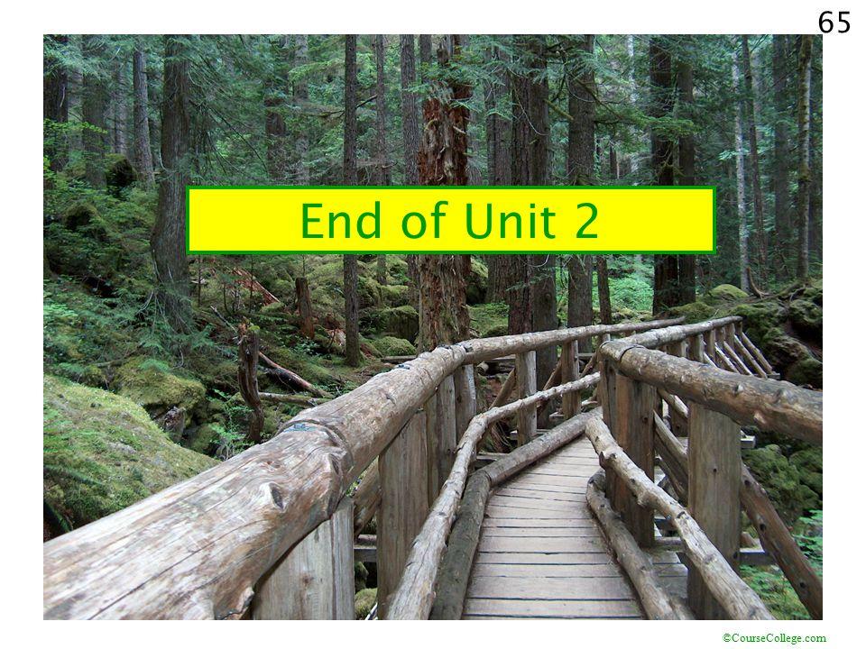 End of Unit 2