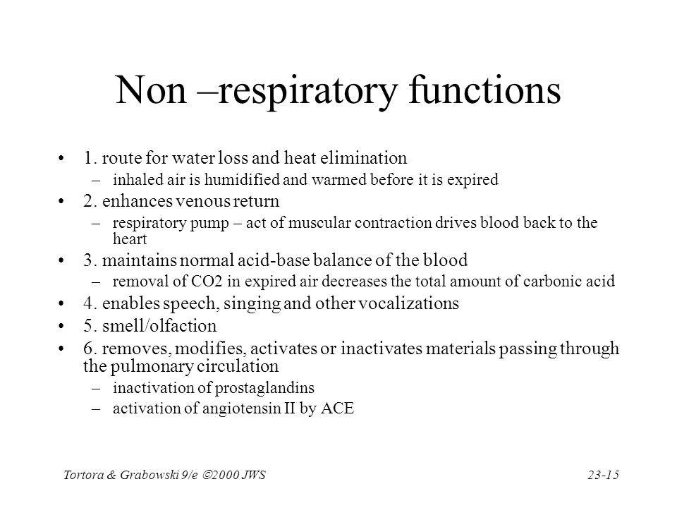 Non –respiratory functions