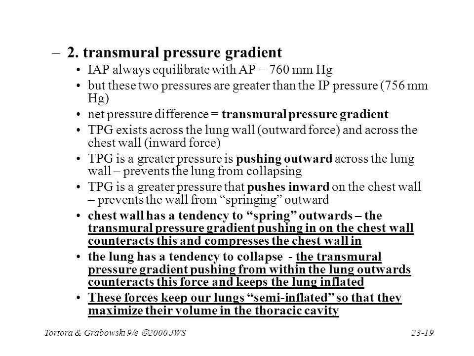 2. transmural pressure gradient