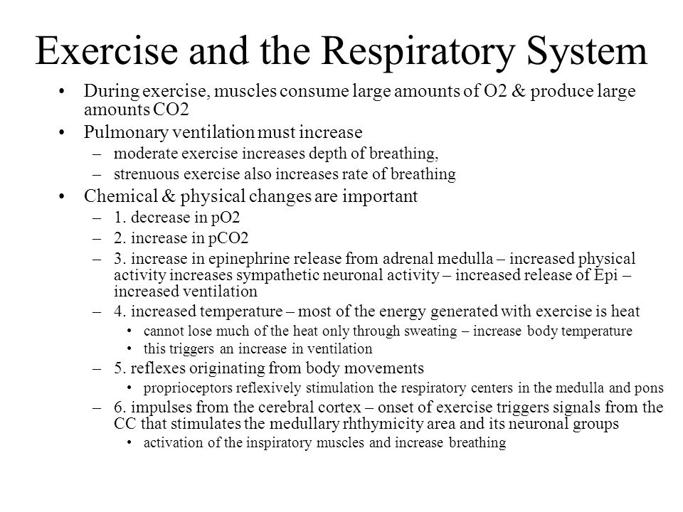 Exercise and the Respiratory System