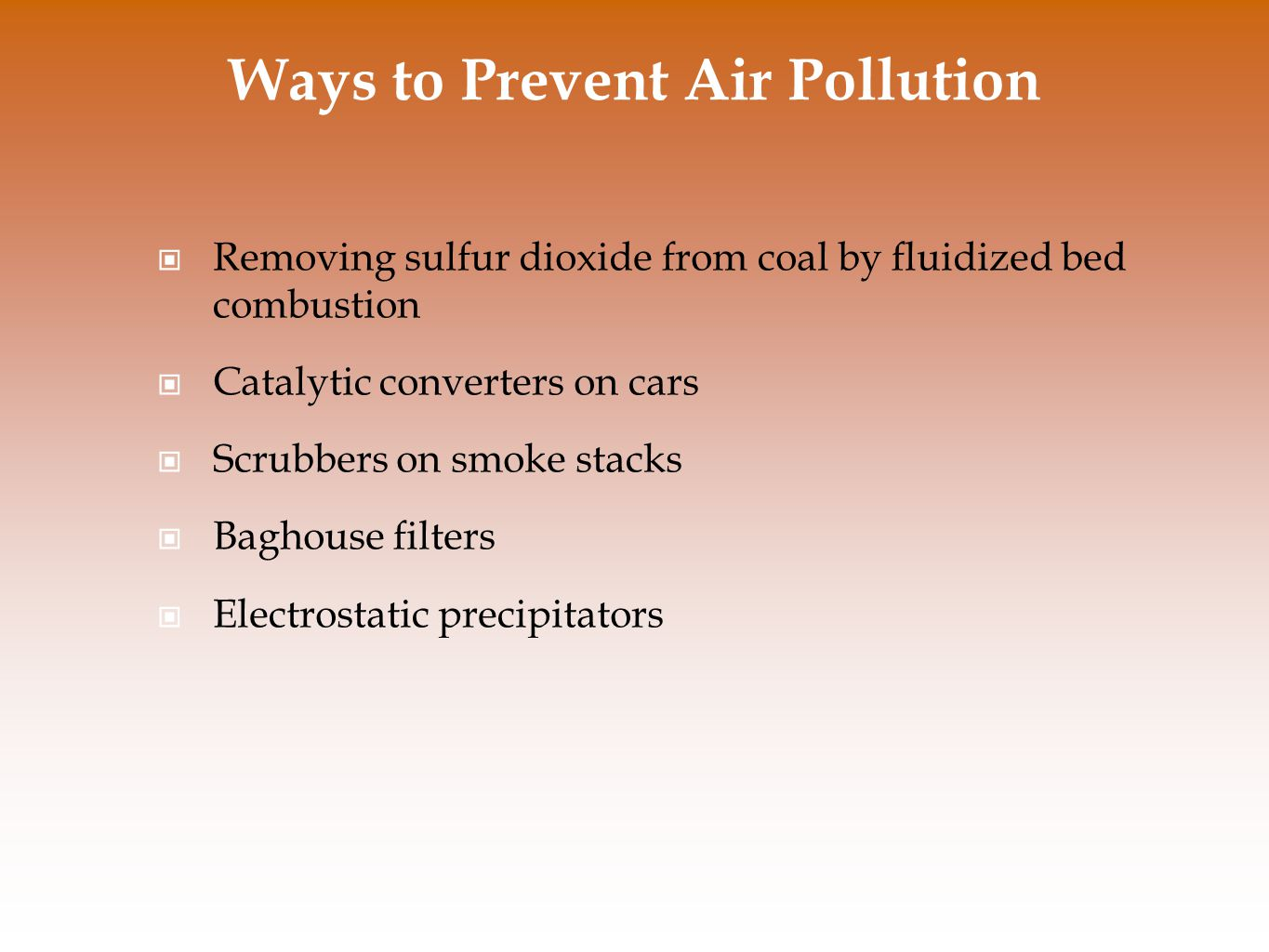 Ways to Prevent Air Pollution