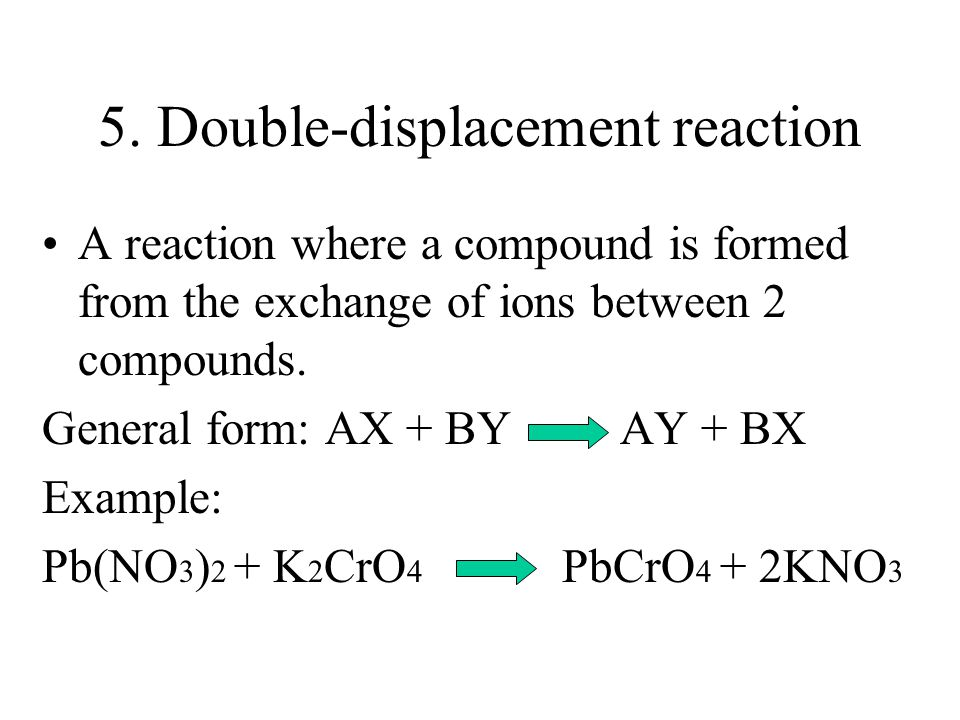 5. Double-displacement reaction