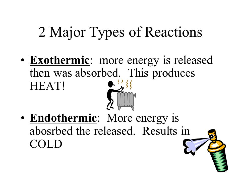 2 Major Types of Reactions