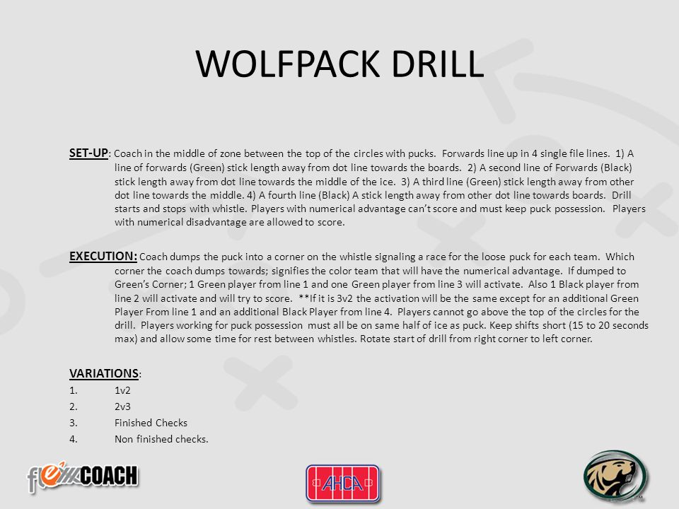 WOLFPACK DRILL