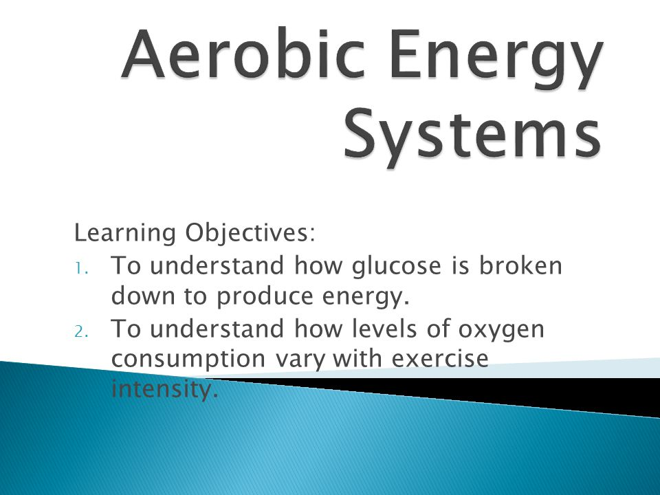 Aerobic Energy Systems