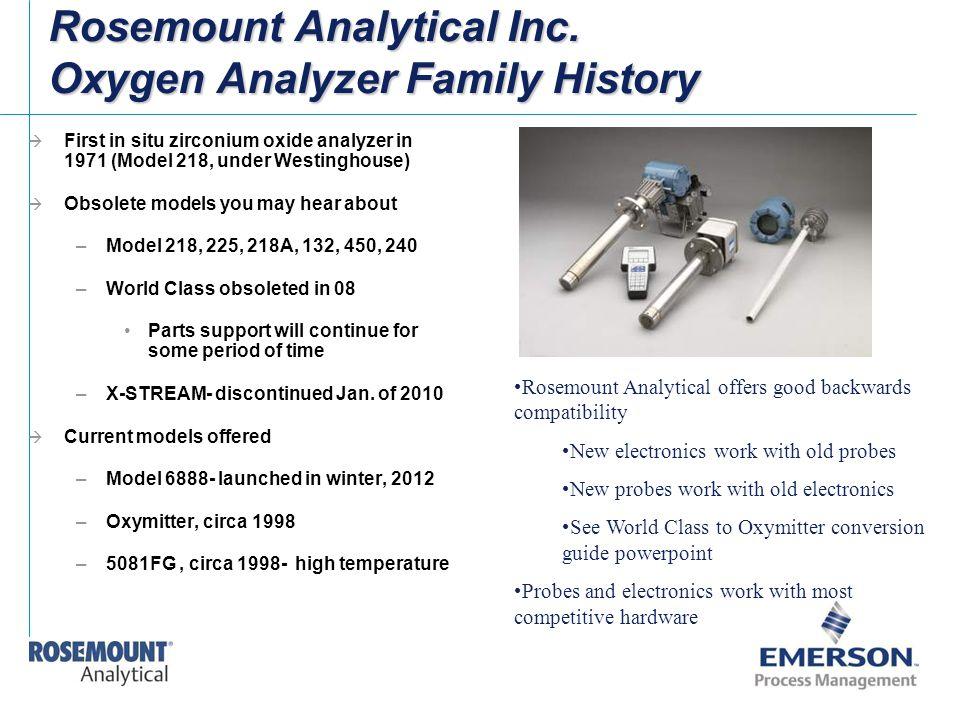 Rosemount Analytical Inc. Oxygen Analyzer Family History