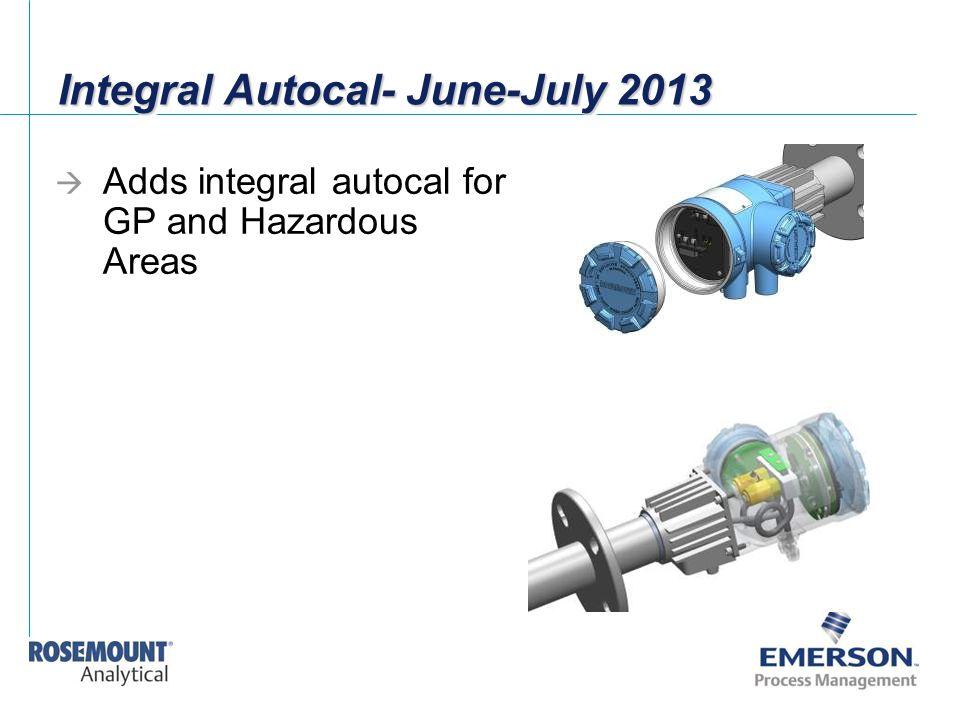 Integral Autocal- June-July 2013