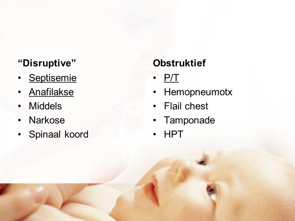 Disruptive Obstruktief. Septisemie. Anafilakse. Middels. Narkose. Spinaal koord. P/T. Hemopneumotx.