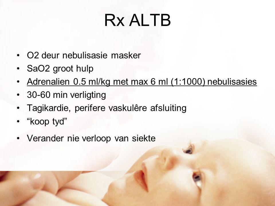 Rx ALTB O2 deur nebulisasie masker SaO2 groot hulp