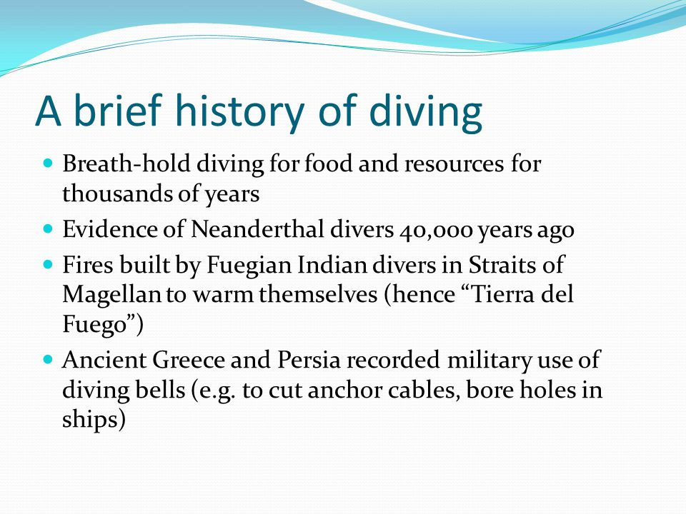 A brief history of diving