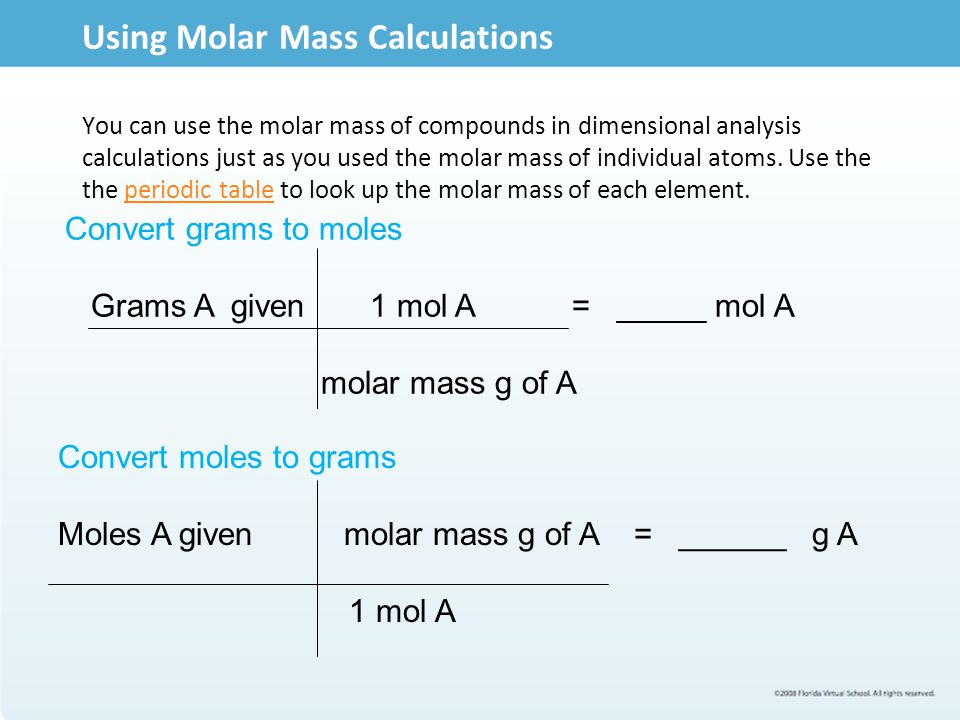 Molar mass of compounds ppt video online download using molar mass calculations urtaz Choice Image