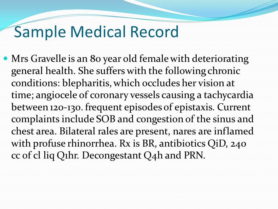 Sample Medical Record