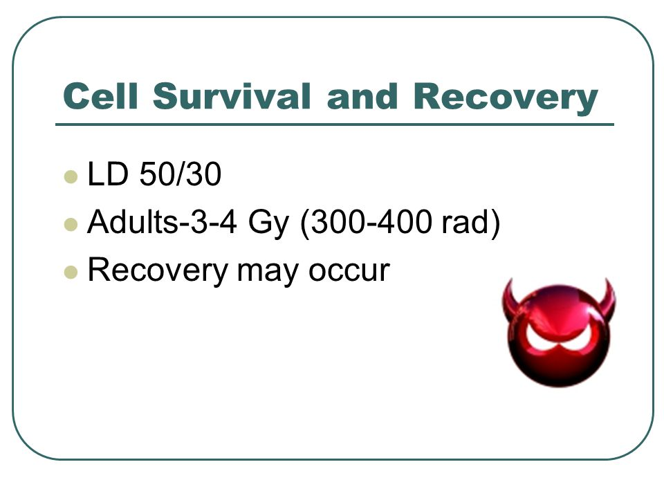 Cell Survival and Recovery