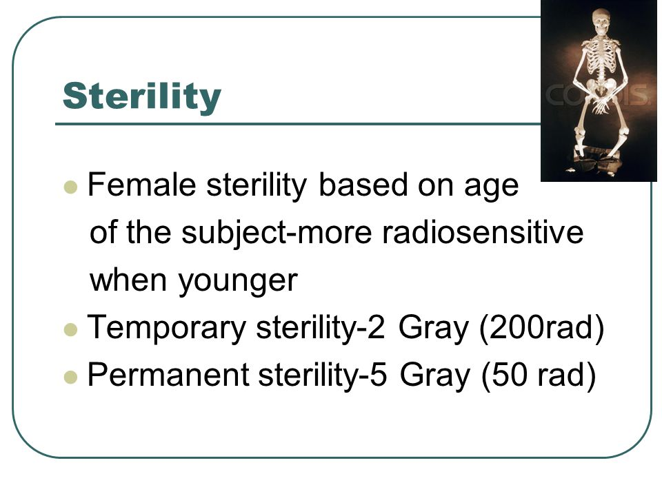 Sterility Female sterility based on age