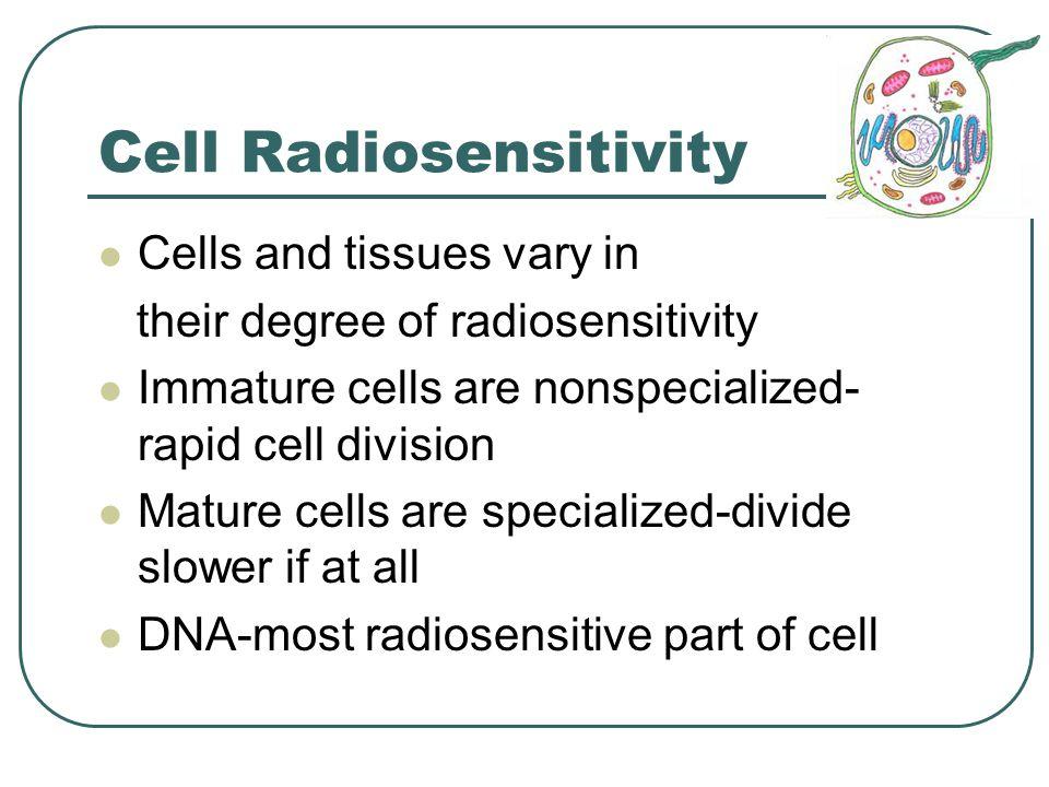 Cell Radiosensitivity