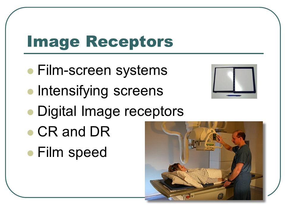Image Receptors Film-screen systems Intensifying screens