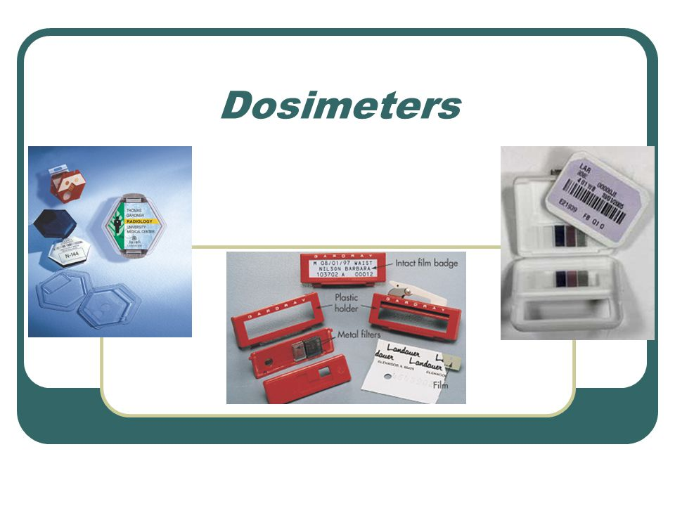 Dosimeters The personnel dosimeter provides an indication of the working habits and working conditions of diagnostic imaging personnel.