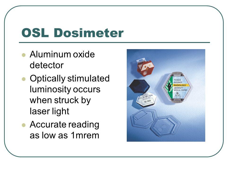 OSL Dosimeter Aluminum oxide detector