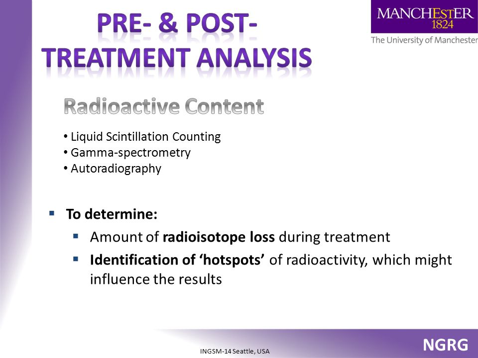 Pre- & post- treatment analysis