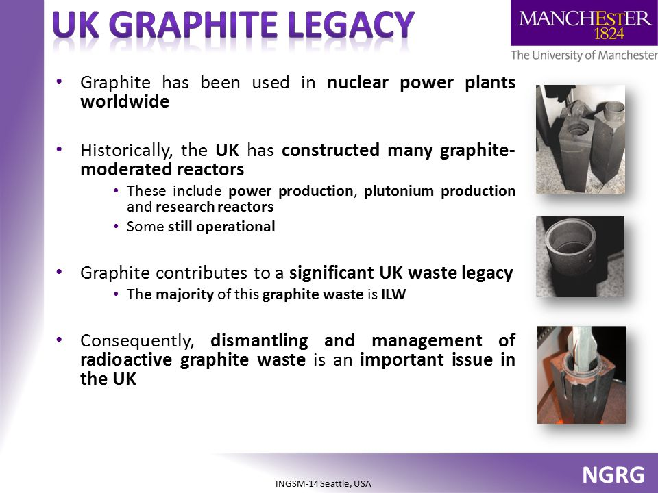 UK Graphite legacy Graphite has been used in nuclear power plants worldwide. Historically, the UK has constructed many graphite-moderated reactors.