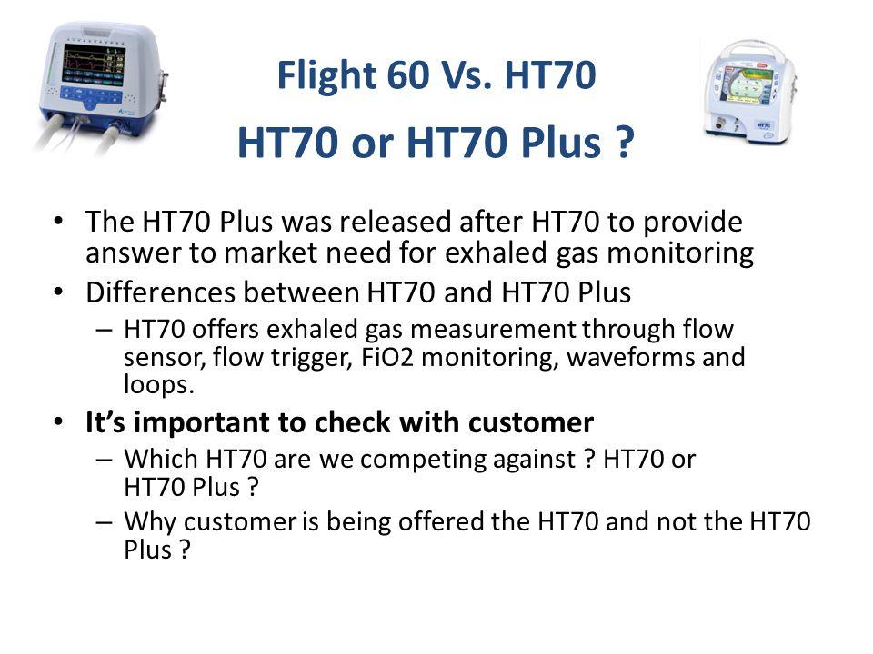 HT70 or HT70 Plus Flight 60 Vs. HT70